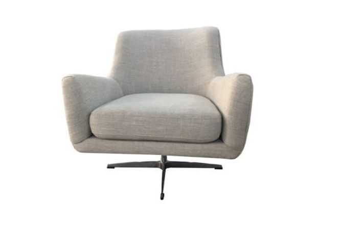 Evan Swivel Grey Occasional Chair Home Ingredients
