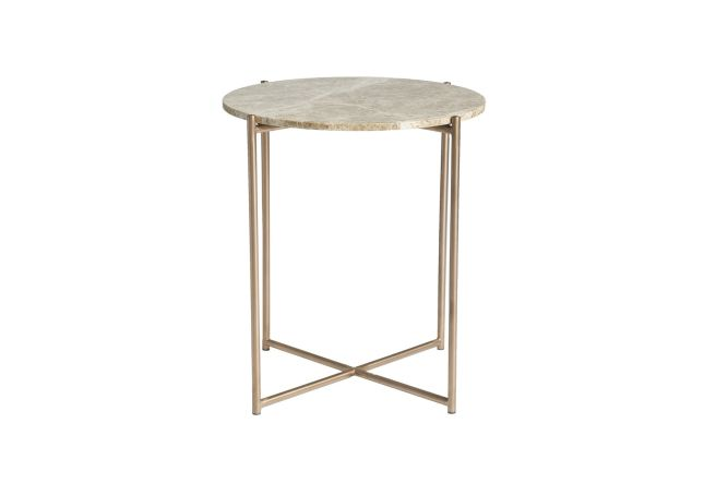 Venice Marble + Brass Side Table Home Ingredients