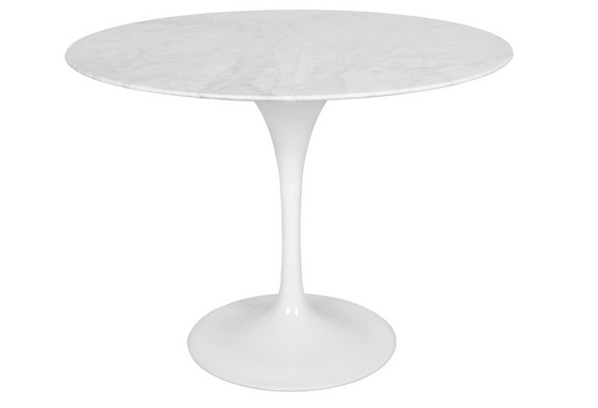 Flute Marble Round Condo Size Dining Table Home Ingredients