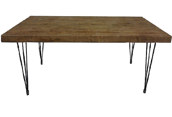 Boneta Natural Iron Legs Dining Table Home Ingre