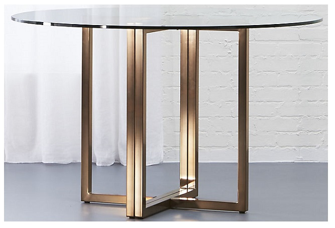 Silverado Brass and Glass Dining Table Home Ingredients
