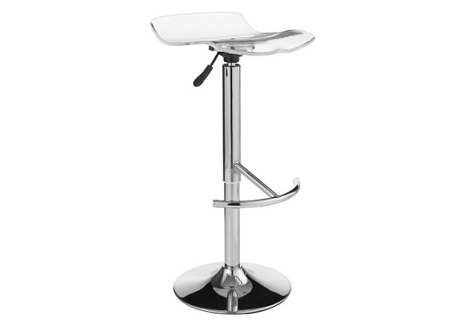 California Clear Adjustable Counter Stool