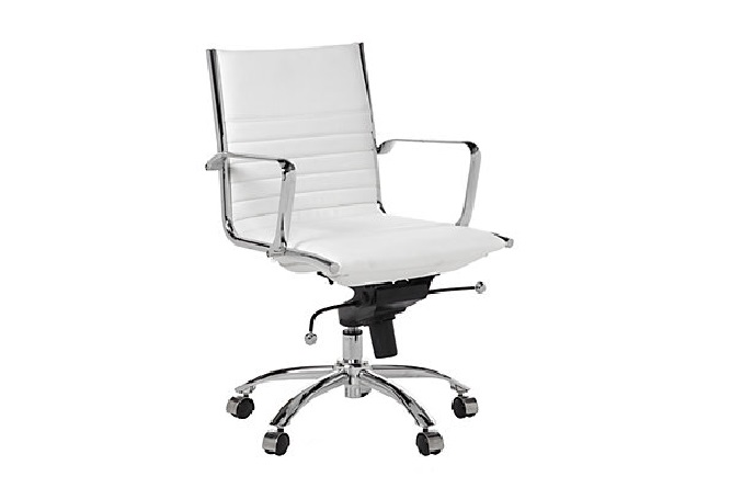 White and Chrome Office Chair Home Ingredients