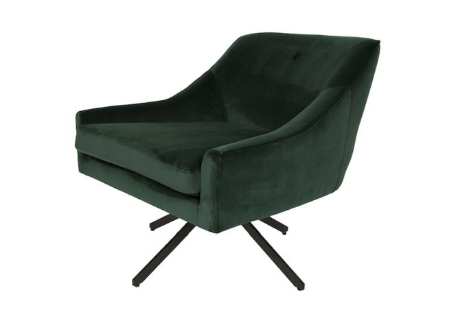 Ethan Swivel Deep Green Occasional Chair Home Ingredients