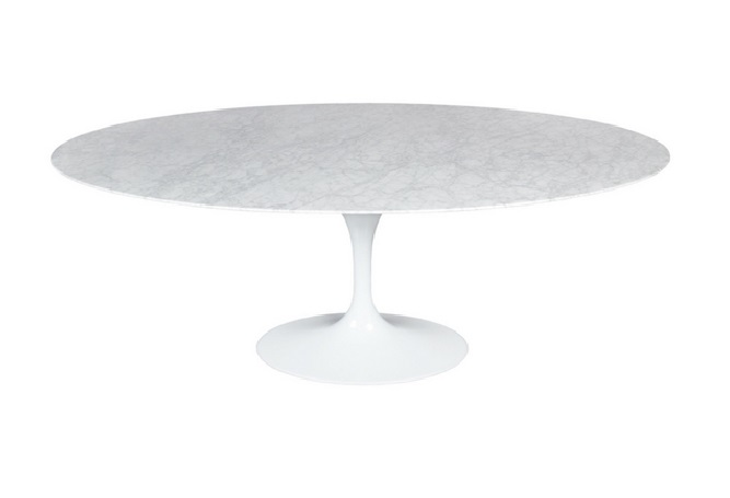 Flute Oval Small Dining Table Home Ingredients