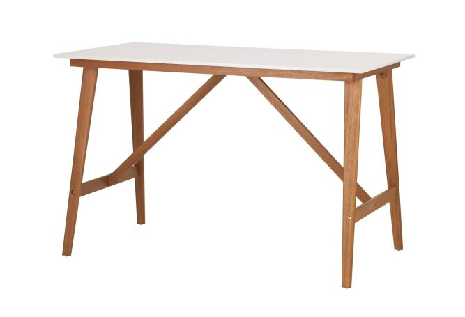 Fanbyn White W/ Eucalyptus Legs Counter Table