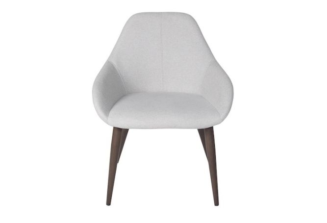 Tina Dove Grey Walnut Leg Dining Chair Home Ingredients