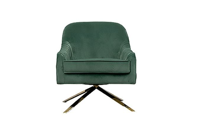 Andrea Swivel Green Occasional Chair Home Ingredients Furniture Rentals F1036