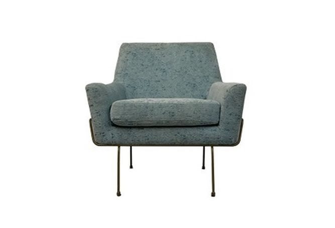 Baby Blue Crushed Velvet Occasional Chair Home Ingredients Furniture Rentals F993