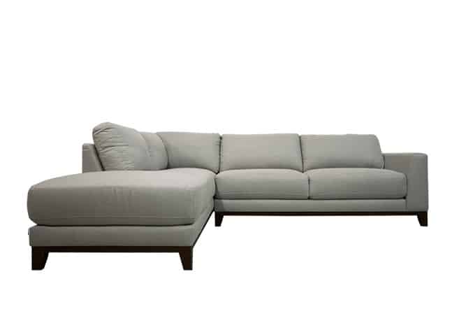 Brighton Light Grey Sectional Home Ingredients