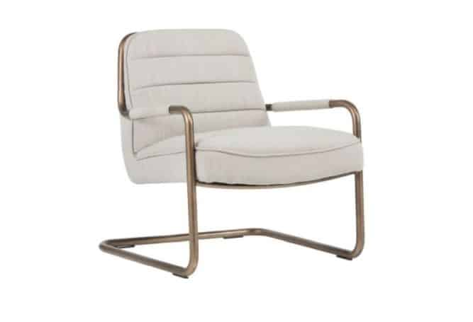 Lincoln Beige Occasional Chair Home Ingredients