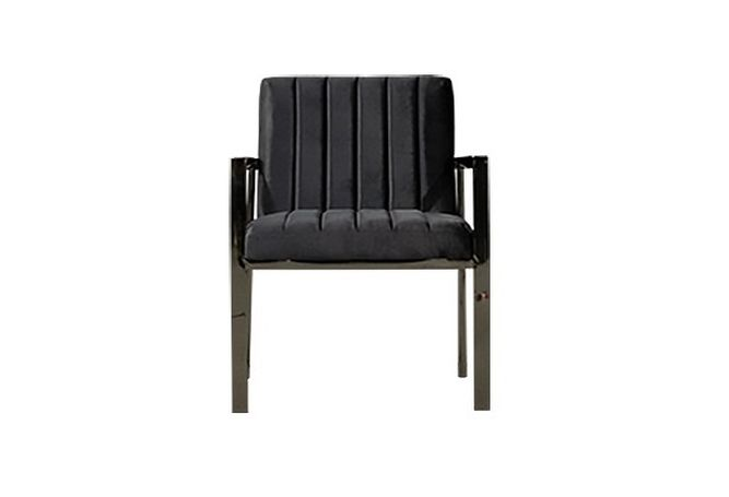 Grey Velour Vertical Stitching Occasional Chair Home Ingredients Furniture Rentals F1081