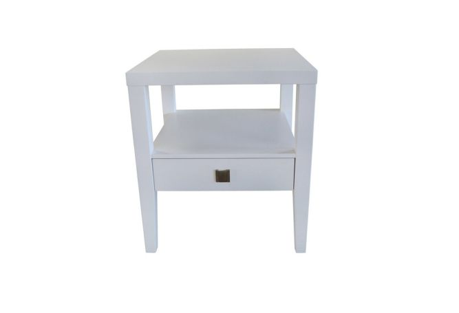 Hara White Side Table Home Ingredients