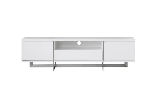 Remi Matte White TV Stand Home Ingredients Furniture Rentals