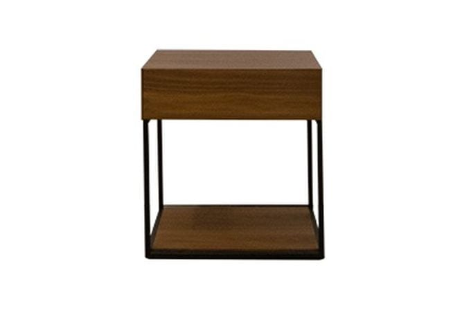 Blake Walnut Side Table Home Ingredients Furniture Rentals F711