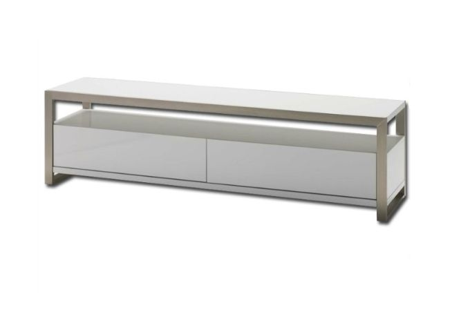 Brando White Lacquer TV Stand Home Ingredients
