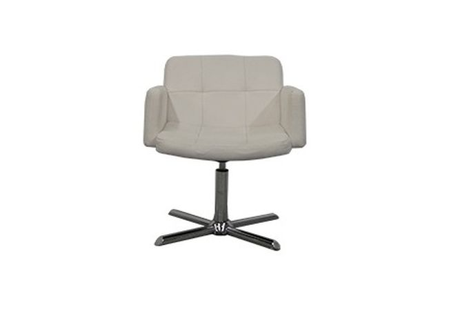 Churchill White Leather Swivel Office Chair Home Ingredients Furniture Rentals O071