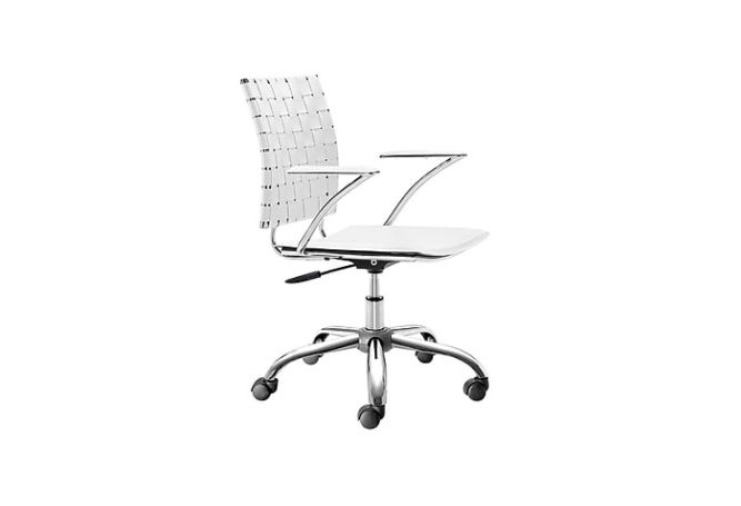 Criss Cross White Office Chair Home Ingredients