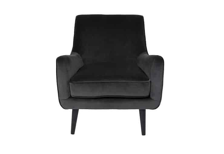 Evan Smoke Grey Occasional Chair Home Ingredients