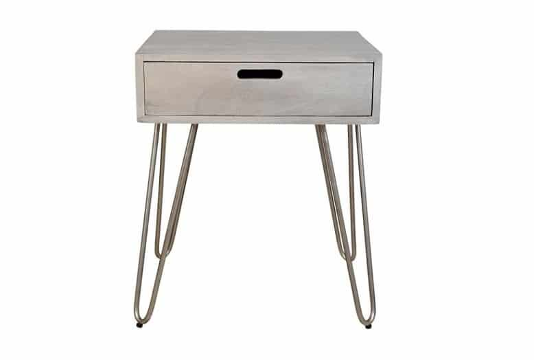 Jaydo Light Grey Side Table Home Ingredients