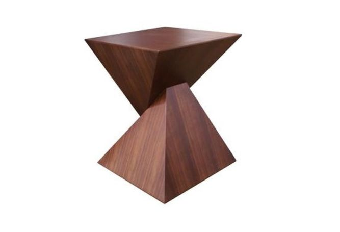 Giza Square Walnut Side Table Home Ingredients