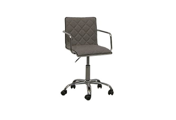 Grey Quilted Office Chair Home Ingredients Furniture Rentals O166