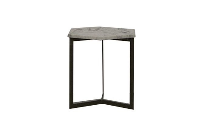 Hexagon Marble Top Side Table Home Ingredients Furniture Rentals F691