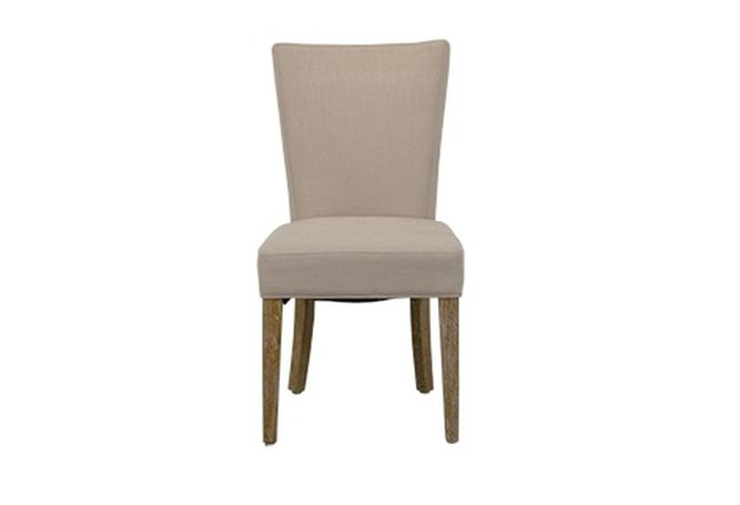 Hudson Natural Linen Dining Chair Home Ingredients Furniture Rentals D203