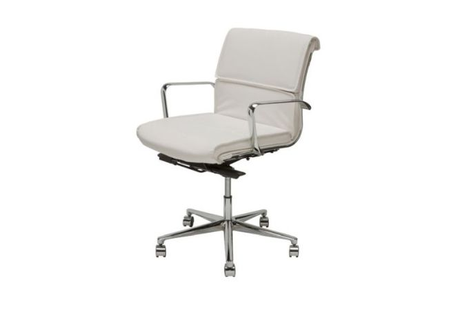 Lucia White Office Chair Home Ingredients
