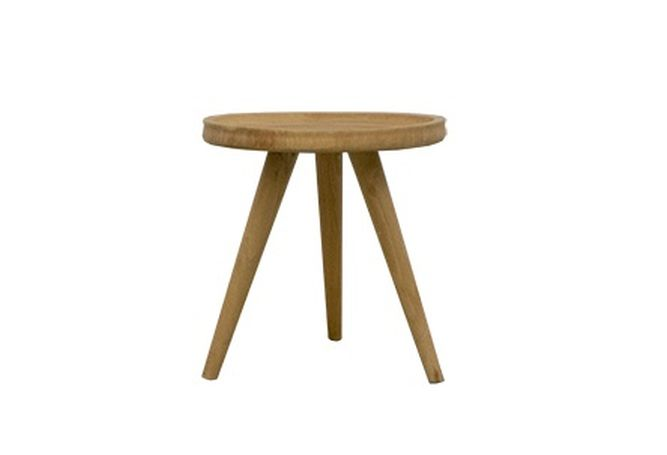 Organic Round Saucer Side Table Home Ingredients Furniture Rentals F992
