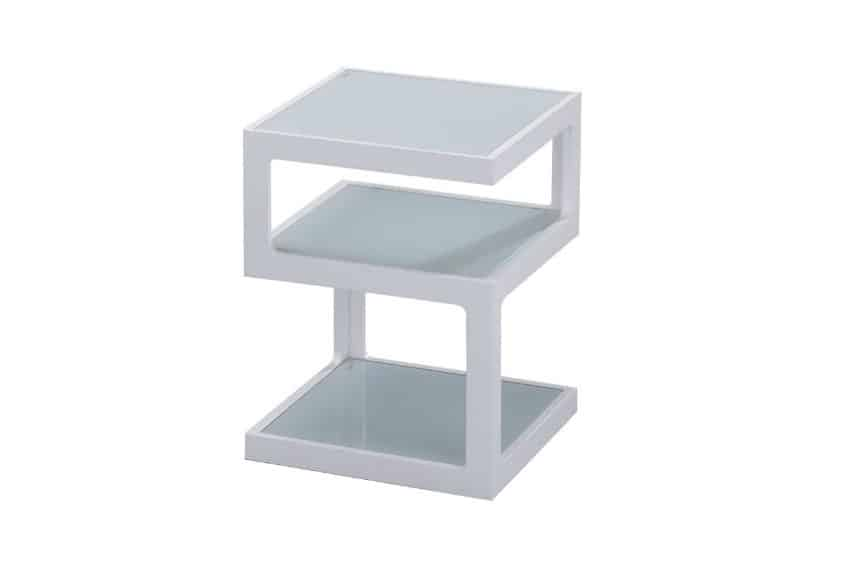 Quby II White Side Table Home Ingredients
