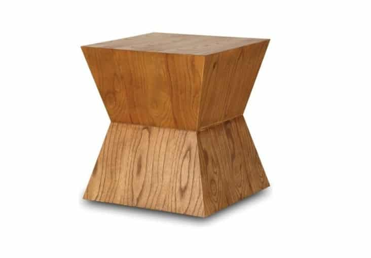 Rio Block End Cool Brown Side Table Home Ingredients