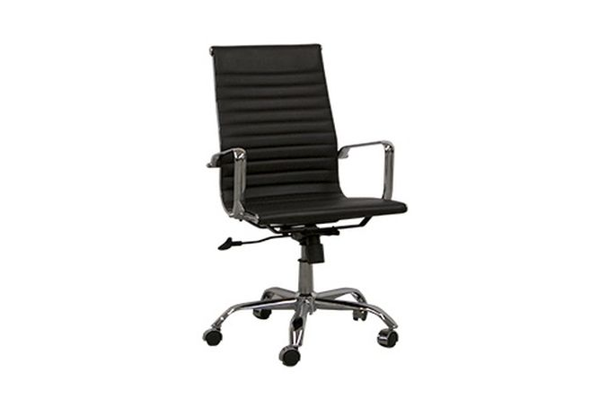 Spencer Black + Chrome Office Chair Home Ingredients Furniture Rentals O148