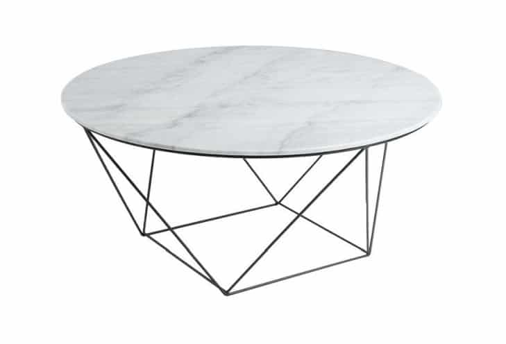 Valencia White Top Black Base Coffee Table Home Ingredients