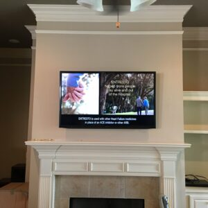 TV Mounted over Fireplace