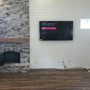 TV Mounted near Fireplace