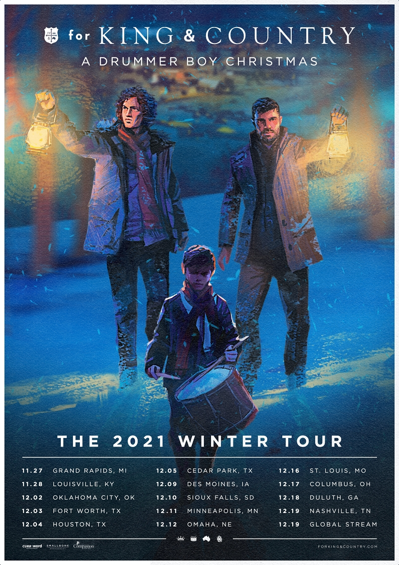 Music News: 4x Grammy Winner for King & Country Announce A Drummer Boy Christmas Tour