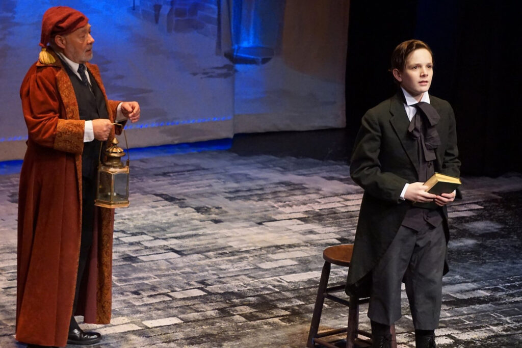 photo of Scrooge play at Rhinebeck Performing Arts Center