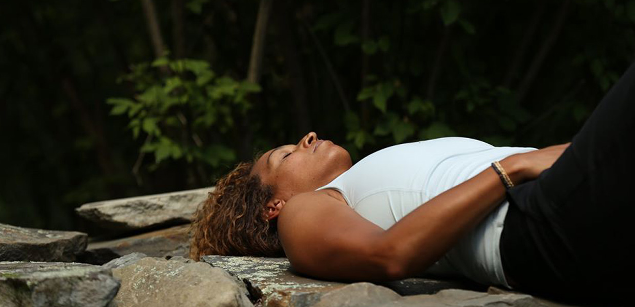 photo of woman relaxing at Omega