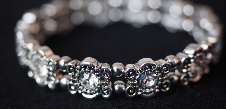 photo of jeweled bracelet