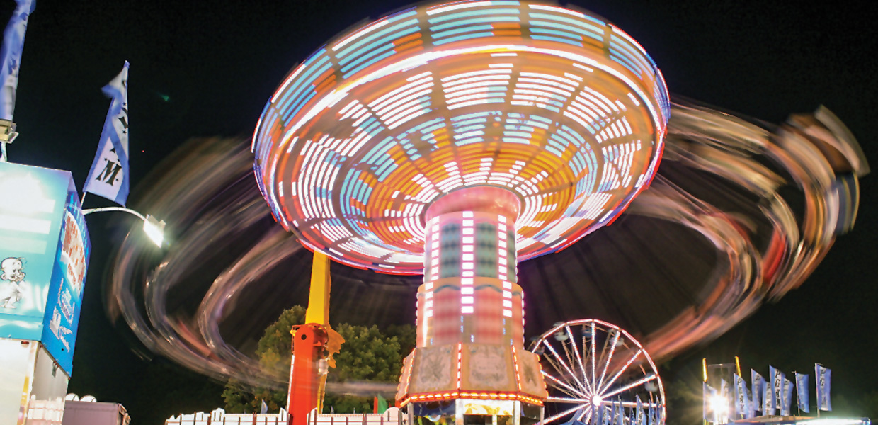 photo of ride in motion at Dutchess County Fair