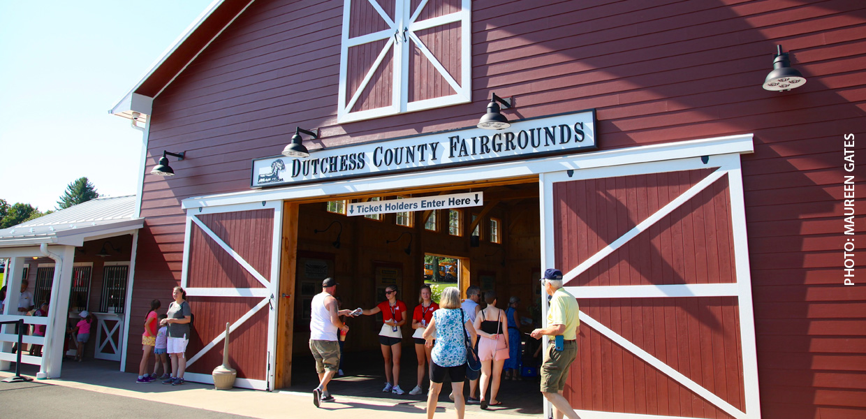 photo of barn at Dutchess County fairgrounds
