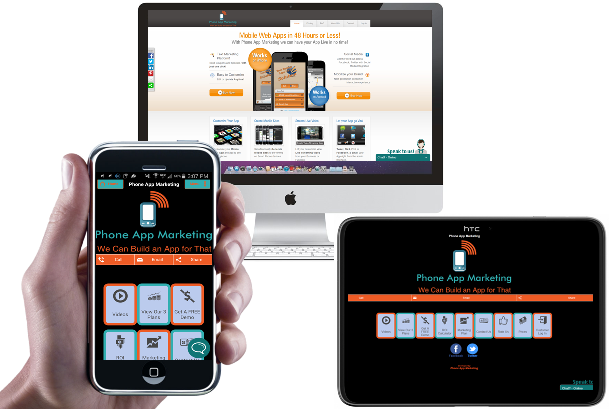 Phone App Marketing - App Design - Website Design