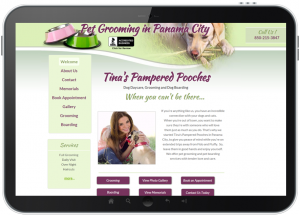 Phone App Marketing Tina's Pampered Pooches