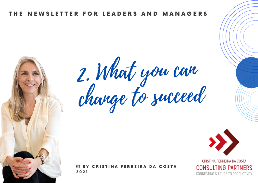 What you can change to succeed