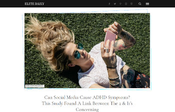 Screenshot of the article from elitedaily.com