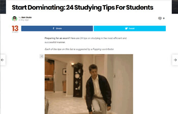 Screenshot of the article from fupping.com/