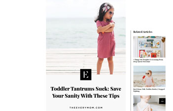 Screenshot of the article from theeverymom.com
