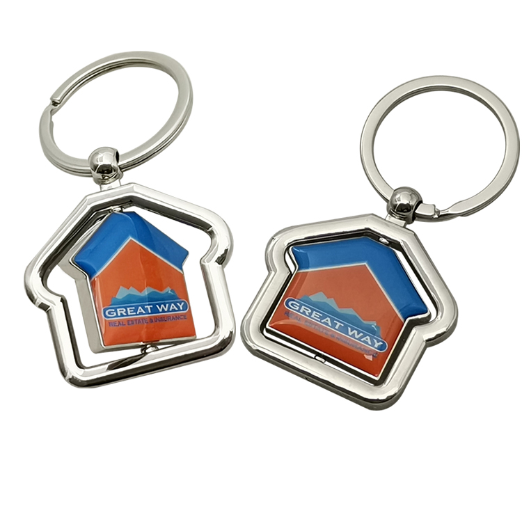 Rotatable Nameplate Keychains