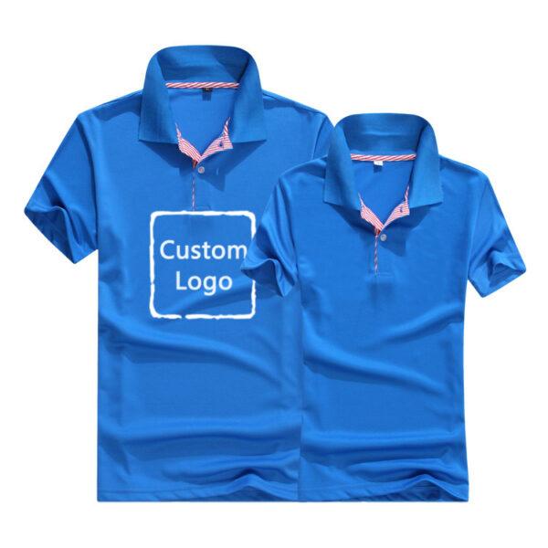 Solid Color Polo Custom Logo